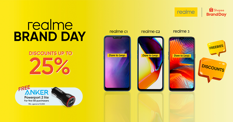 Realme phones to come with up to 25 percent off at Shopee on August 13