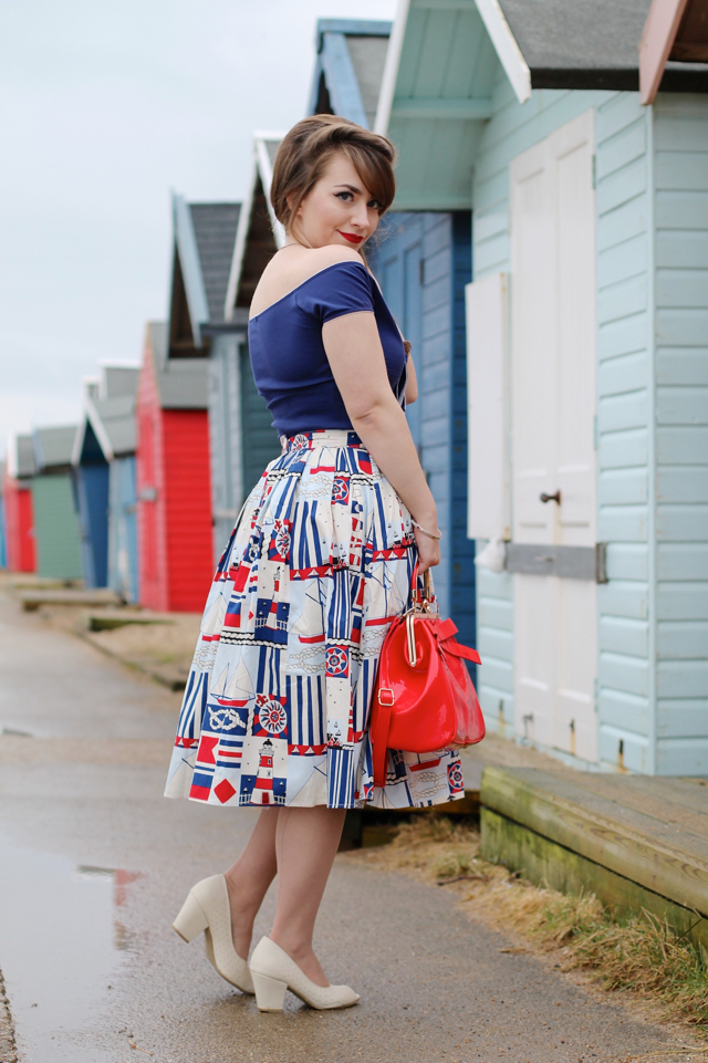 Hell Bunny lighthouse skirt and bardot top review