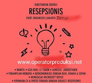 Loker Resepsionis dan Office Boy Klender Jakarta Timur