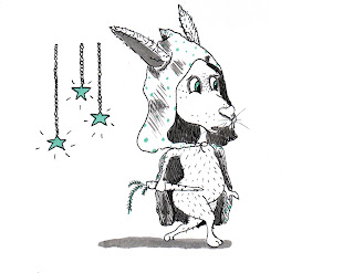 Whimsical Bunny Armed With Carrot Ink Drawing By Tawnya Boe