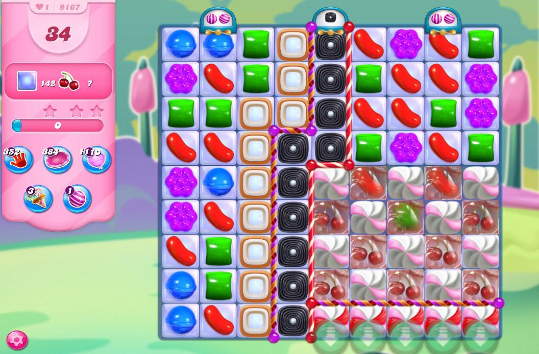 Candy Crush Saga level 9167