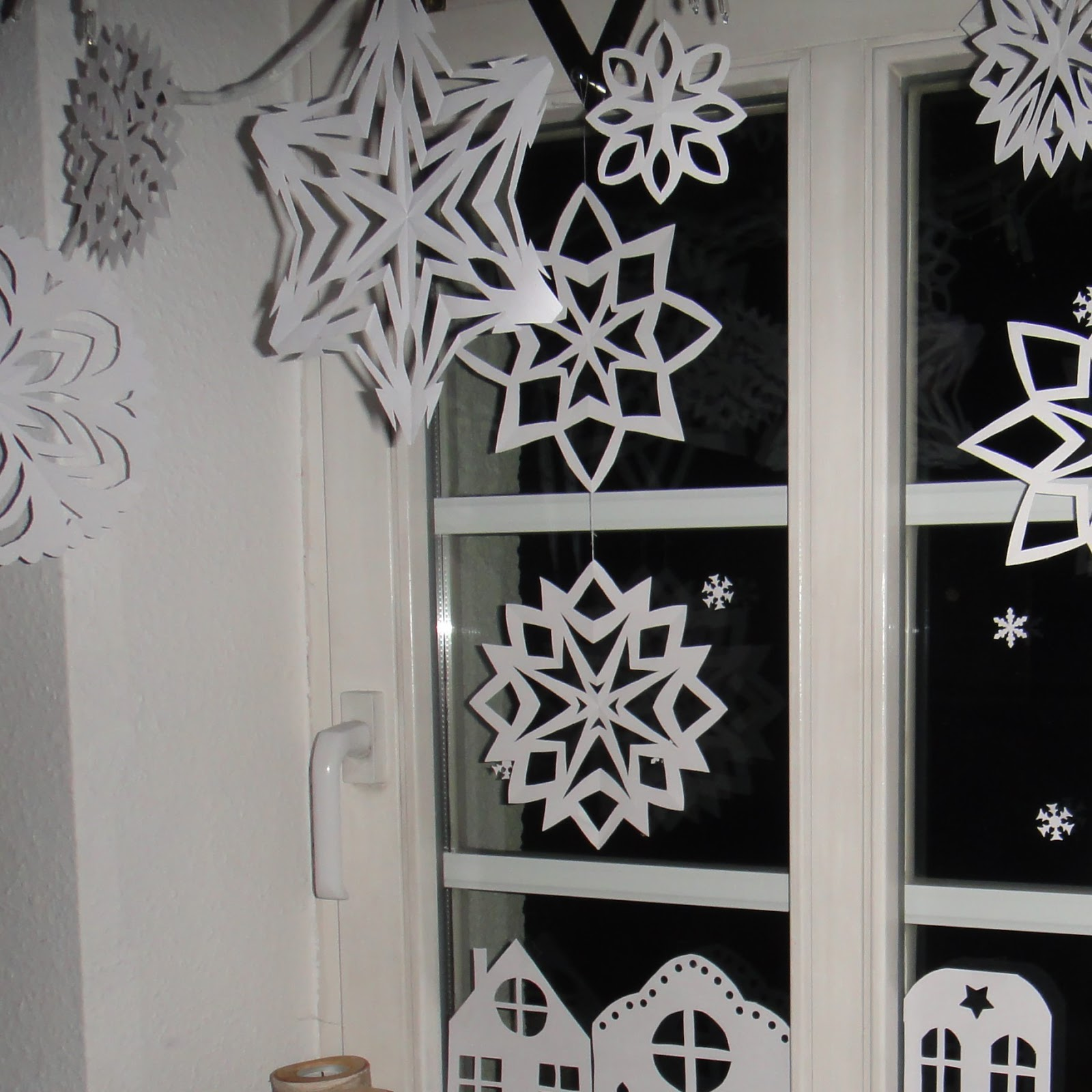 Neu Weihnachts Fensterdeko Basteln Kindern Schema