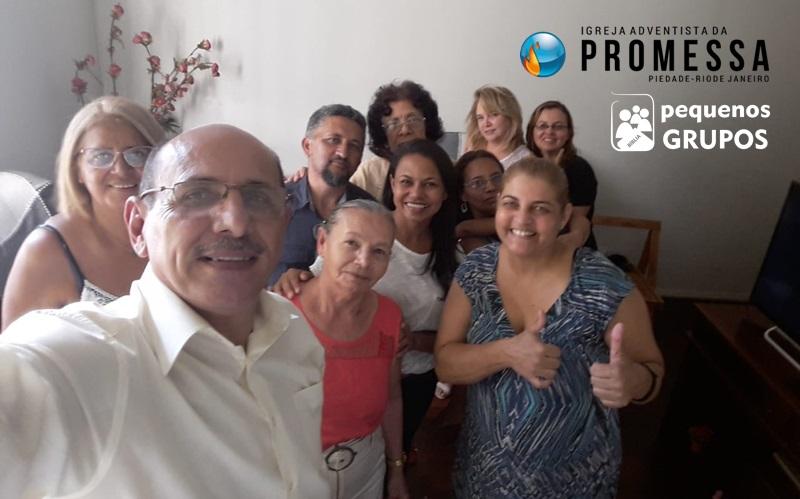 PG Alegria em Piedade. Selfie do grupo no final do bate papo