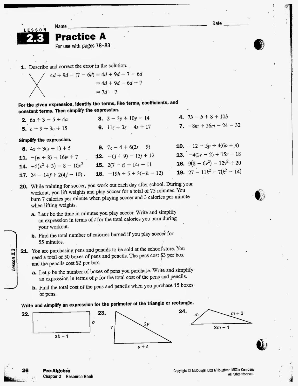 medium resolution of Homework help 7th grade pre algebra: Students Writing