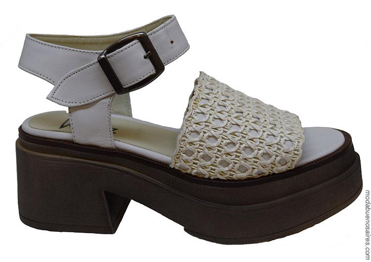 Sandalias primavera verano 2020 calzado femenino.
