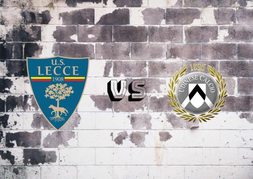 Lecce vs Udinese  Resumen