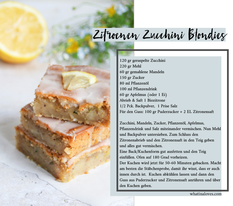 Zitronen-Zucchini-Schnitten