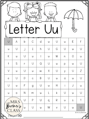 These alphabet letter mazes feature both upper and lowercase letters. This is a great activity for practice with letter recognition of both upper and lowercase letters as well as ABC order. Have students begin at the top left and make their way to the bottom right, coloring, highlighting, or dabbing the path of the featured letter. Makes a fun, skill-based literacy center!
