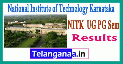 NIT Karnataka UG PG 1/3/5/7 Sem Results