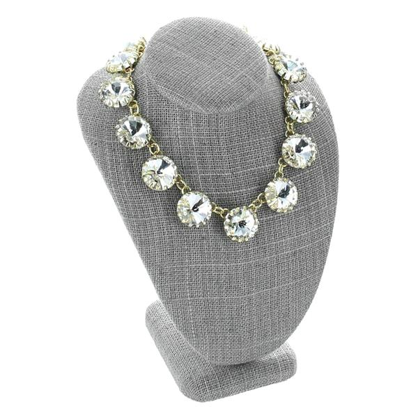Shop Wholesale Gray Linen Necklace Display Bust at Nile Corp