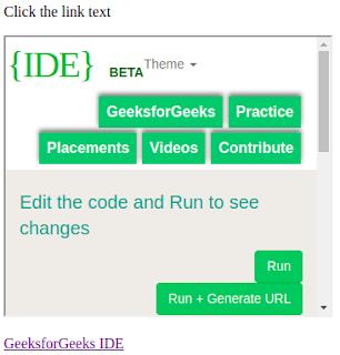 penggunaan iframe untuk menuju ke alamt link lain pada html