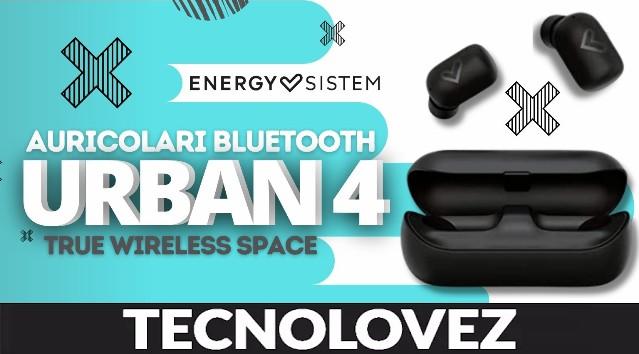 Urban 4 True Wireless Space Energy Sistem - Auricolari Bluetooth Leggeri e Compatti