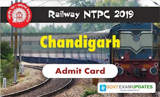 RRB NTPC Chandigarh Admit Card 2019