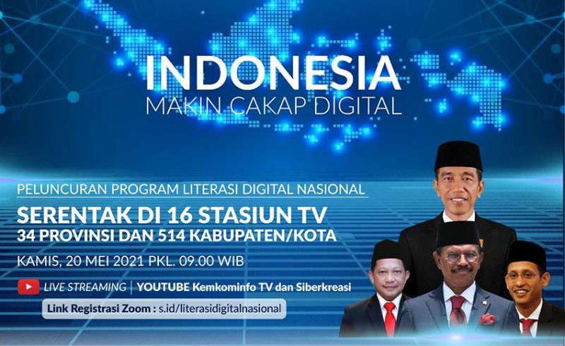 """Kominfo Luncurkan Program Nasional Literasi Digital """"Makin Cakap Digital"""""""