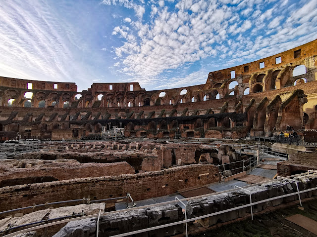 inside the colosseum, roman empire