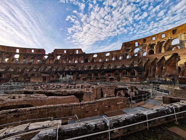 inside the colosseum, roman empire