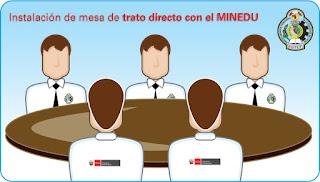 Instalación de la mesa de trato directo con el MINEDU