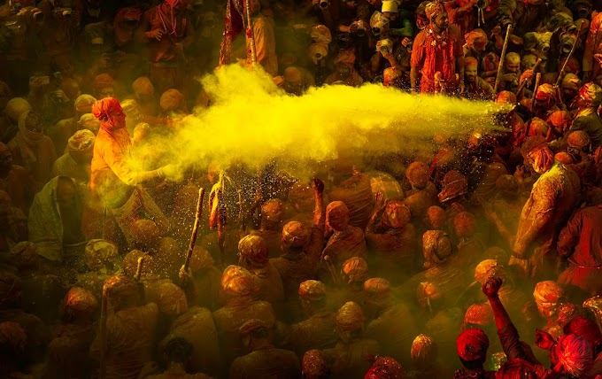 Festival of Colourful Joy & happiness - Holi Festival, Nandgaon, Uttar Pradesh, India