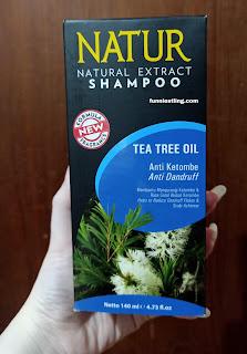 natur shampoo tea tree oil dengan kotak