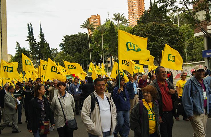 Marcha de la Unión Patriótica en Bogotá. Foto archivo