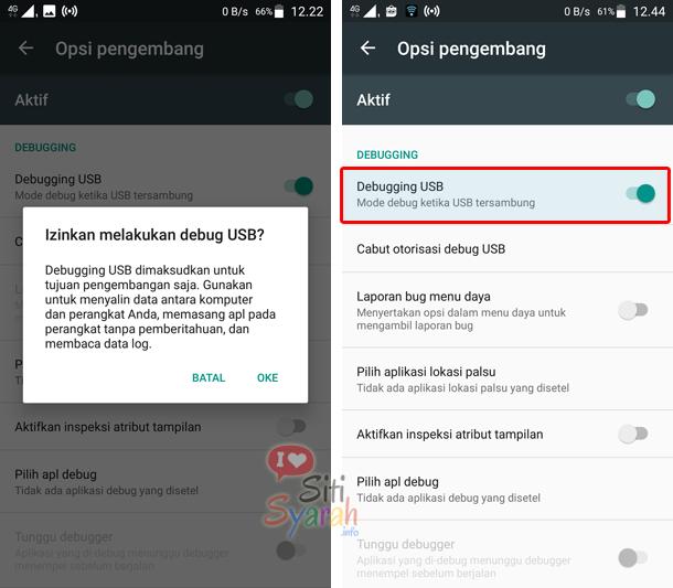 fungsi opsi pengembang di android samsung
