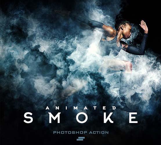 Animated Gif Smoke Photoshop Action