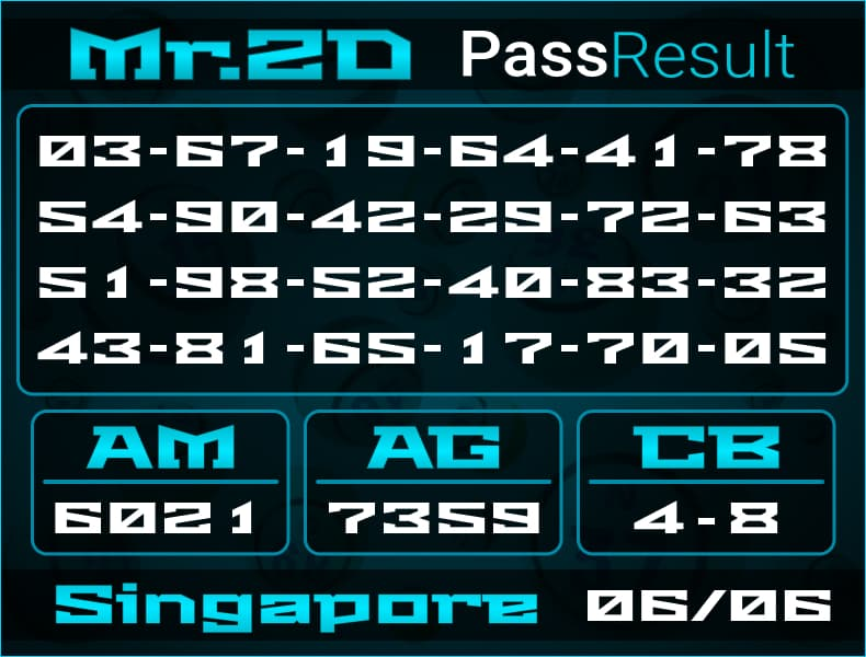 Mr.2D - Bocoran Togel Singapore