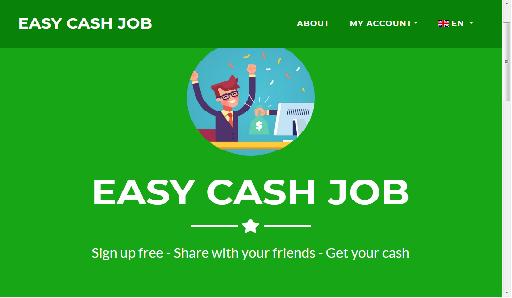 شرح موقع EASY CASH JOB للربح من الانترنت