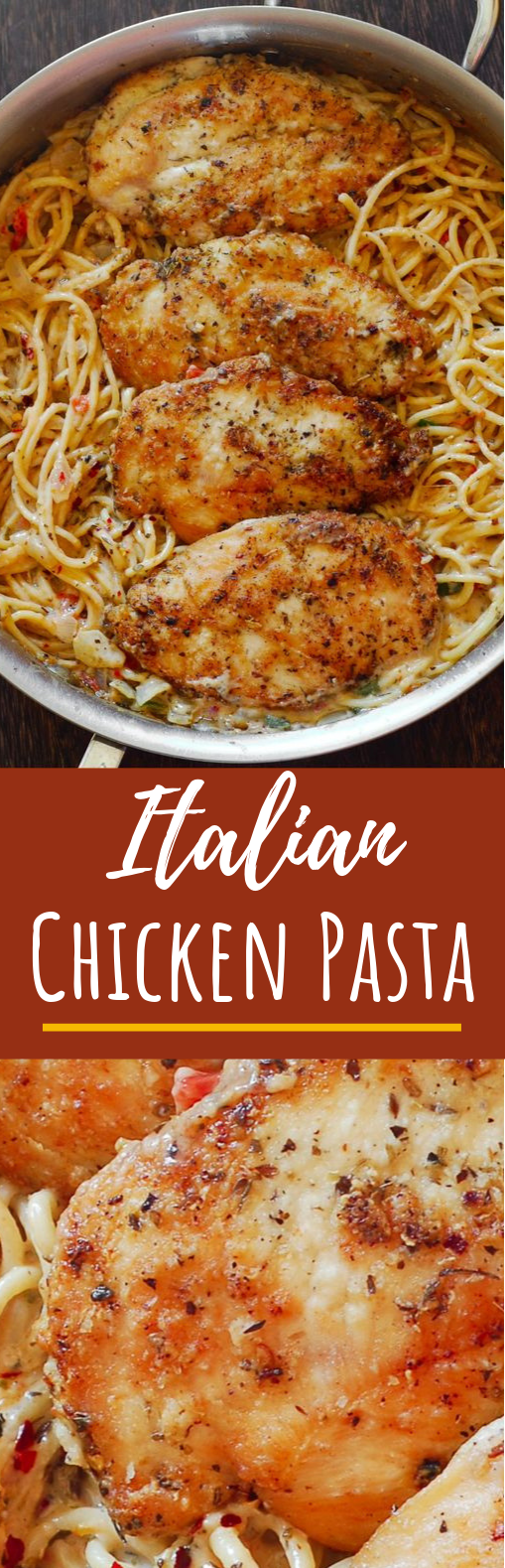 Italian Chicken Pasta #dinner #spaghetti