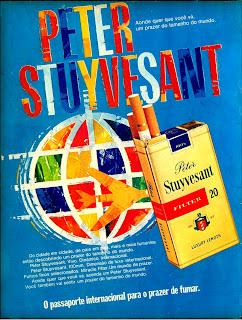 cigarros Peter Stuyvesan - 1974; propaganda anos 70; história decada de 70; reclame anos 70; propaganda cigarros anos 70; Brazil in the 70s; Oswaldo Hernandez;