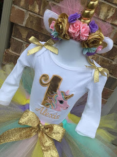 Unicorn Party Fiesta Temática de Unicornio Vestido Dress