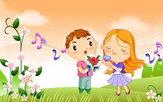 Gambar kartun saling jatuh cinta
