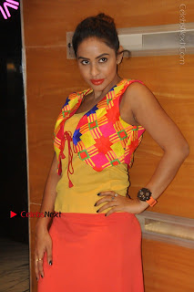 Telugu Actress Model Sri Reddy Latest Stills in Yellow Dress  0008.JPG