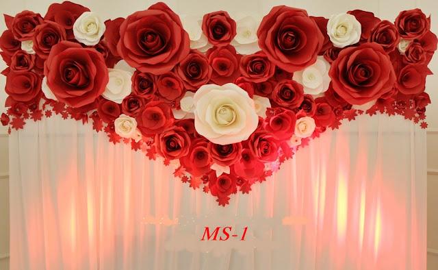cho thue backdrop hoa giay