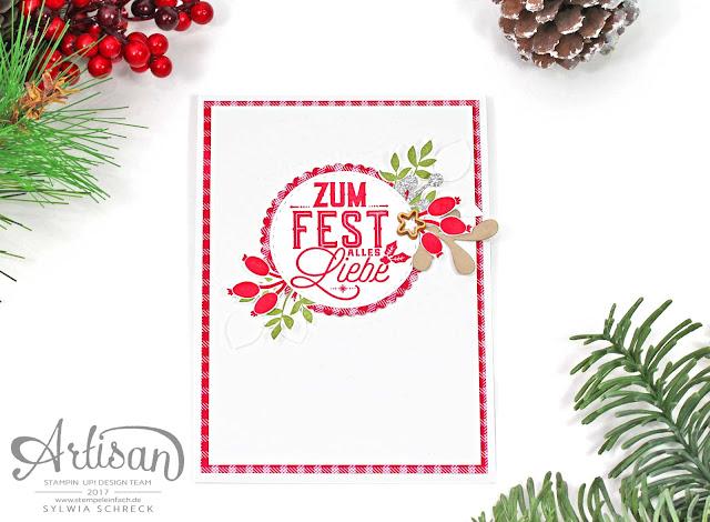 Weihnachtliche Etiketten-Stampin Up