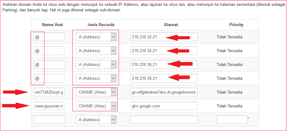 Cara Pasang Domain Dari Unlimited.id Ke Blogspot ( Pointing )