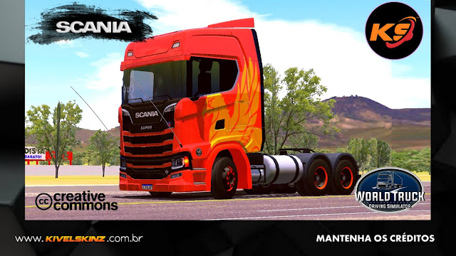 SCANIA S730 - THE FLYING GRIFFIN ORANGE