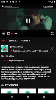 Live Tv Streaming preview dark
