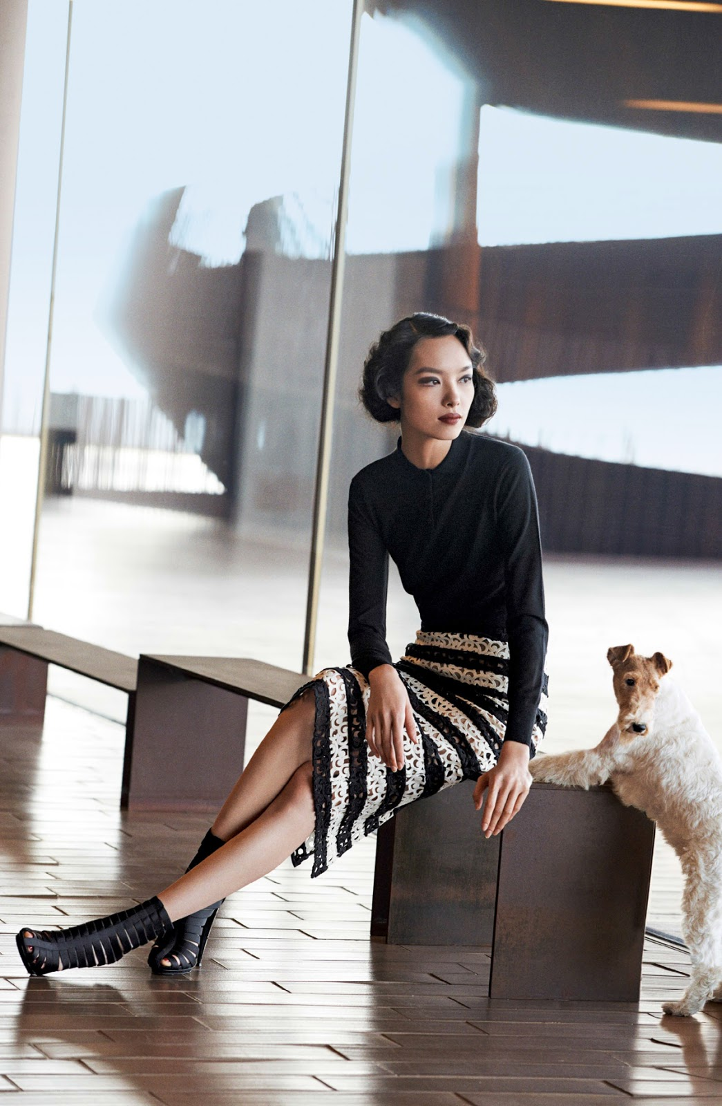 Fei Fei Sun in The Feminine Mystique / Vogue US March 2014 (photography: Peter Lindbergh, styling: Tonne Goodman, make-up: Tom Pecheux)  via www.fashionedbylove.co.uk / best fashion quotes of all times