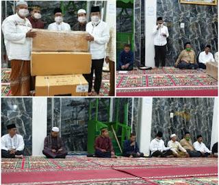 Safari Ramadhan Di Masjid Al Fatah, Bupati Batu Bara Bantu AC dan Uang 5 Juta