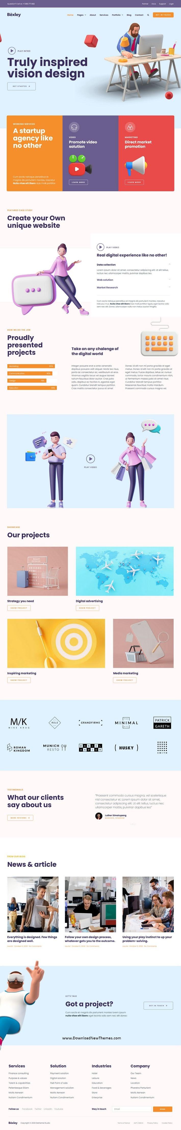 Digital Marketing Agency Template Kit