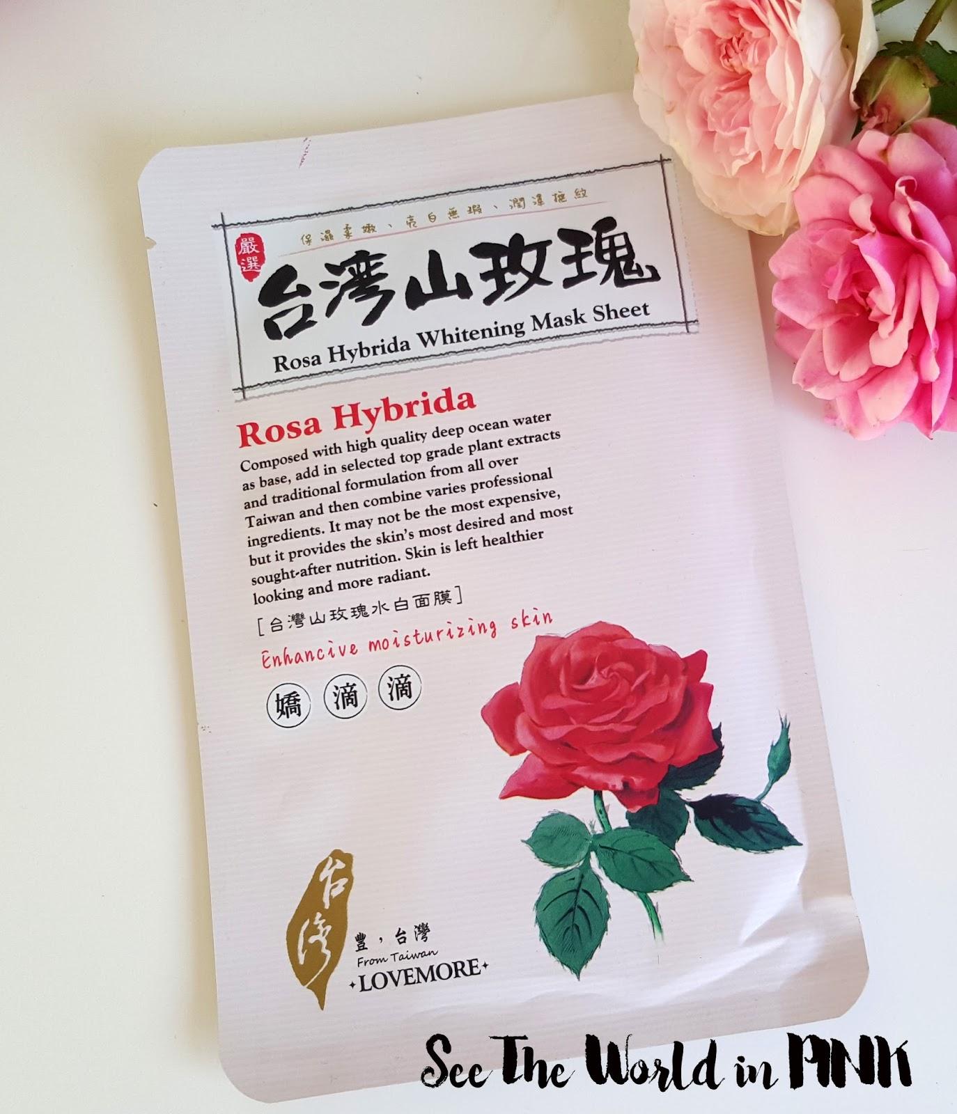 Lovemore Rosa Hybrida Whitening Mask Sheet