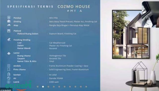 jual rumah cozmo house bsd