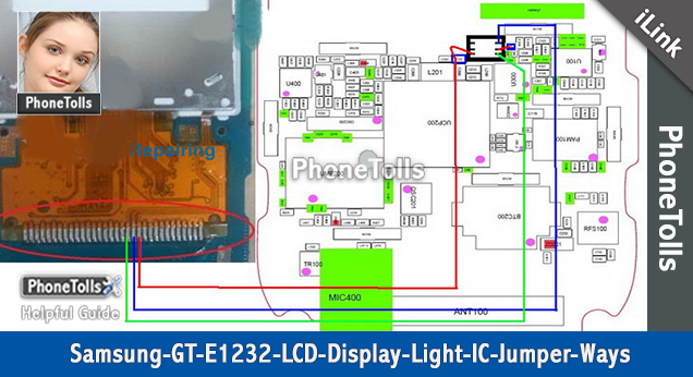 Samsung GT E-1232 LCD Display Light IC Jumper - Phonetolls