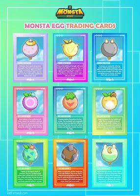 Monsta Egg Trading Cards
