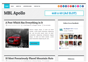 Apollo blogger template