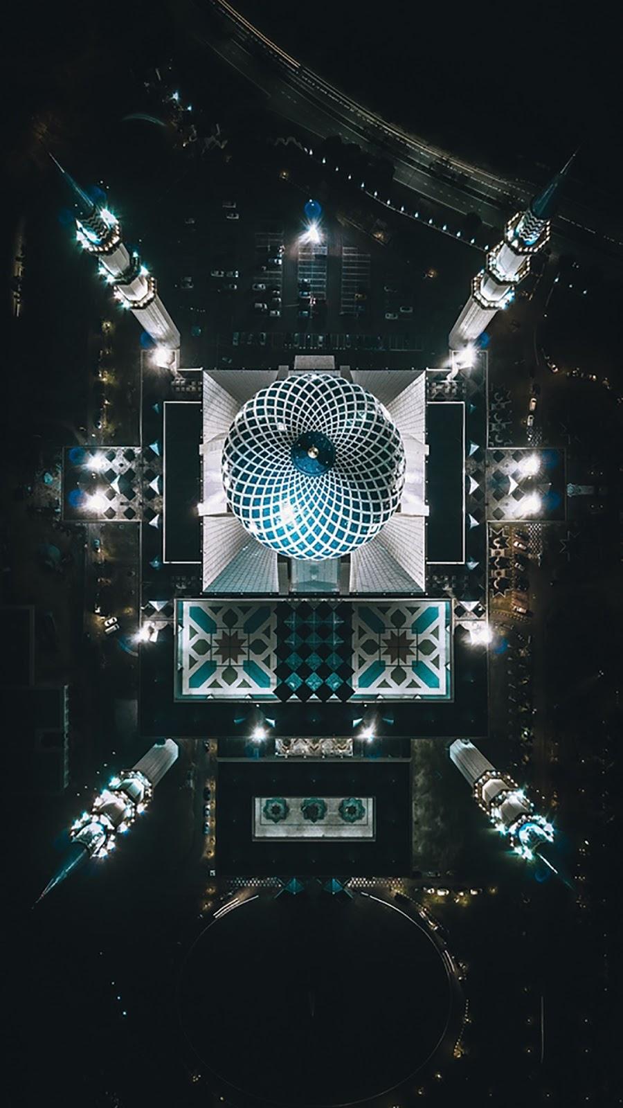 Wallpape Gambar ramadhan keren masjid keren dari atas