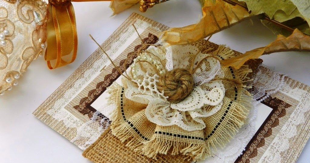 Burlap and lace wedding invitation ideas ~ art projects