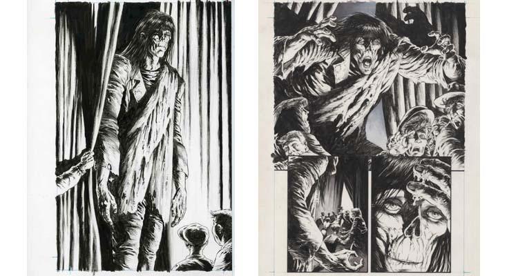 Páginas de Frankenstein ¡Está vivo!, de Bernie Wrightson y Steve Niles