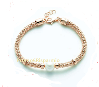 Logo Vinci gratis 1 bracciale in argento 925 rosé, collezione Miss Italia 2019